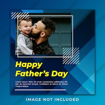Gelukkig vaderdag instagram post-sjabloon voor spandoek
