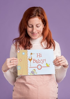 Gelukkig zwanger moederconcept