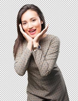 Gelukkige aziatische vrouw