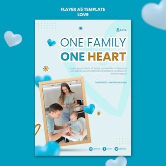 Gelukkige familie samen sjabloon folder