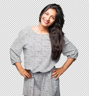 Gelukkige latijnse vrouw