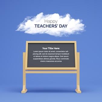 Gelukkige lerarendag achtergrond met het schoolbestuur
