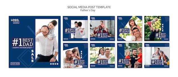Gelukkige sociale media post van de vaderdag