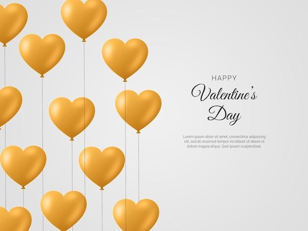 Gelukkige valentijnsdag met 3d-romantische creatieve compositie