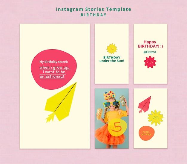 Gelukkige verjaardag instagram-verhalen