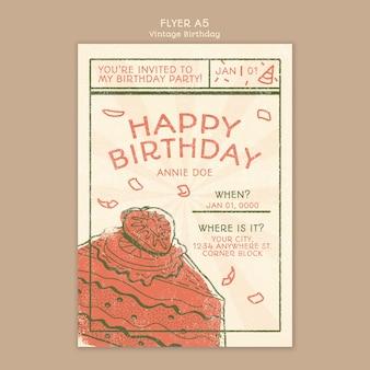 Gelukkige verjaardag poster concept sjabloon