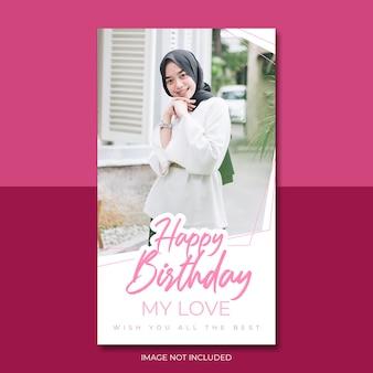 Gelukkige verjaardag poster
