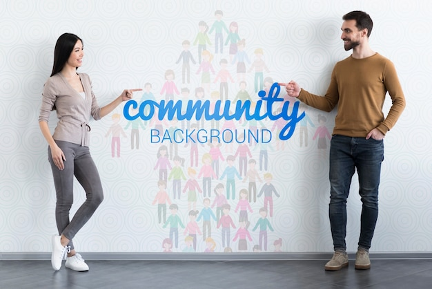 Gemeenschap etnisch concept mock-up