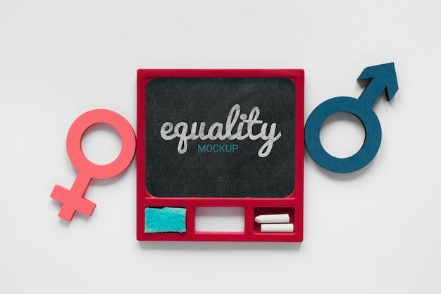 Gendergelijkheid concept mock-up