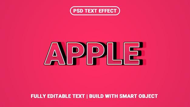 Generador de efectos de estilo de texto 3d de apple