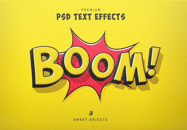 Generador de efectos de texto boom comic style