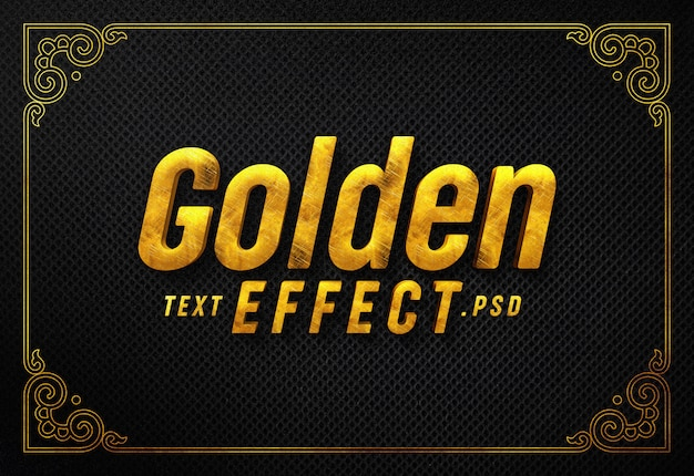 Generador de efectos de texto dorado
