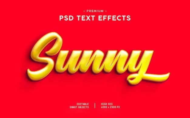 Generador de efectos de texto soleado