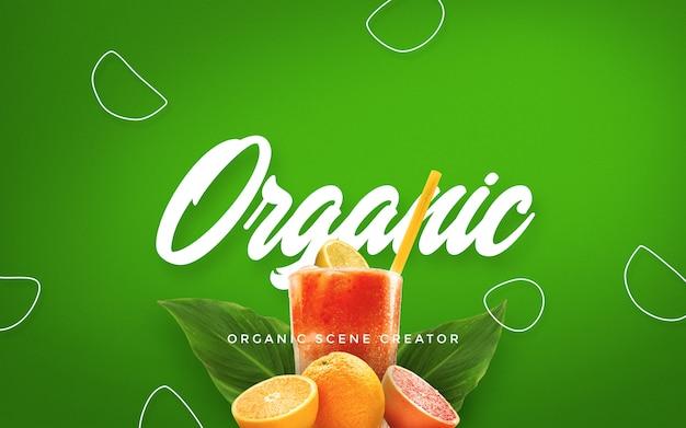 Generador de escena de verano orgánico