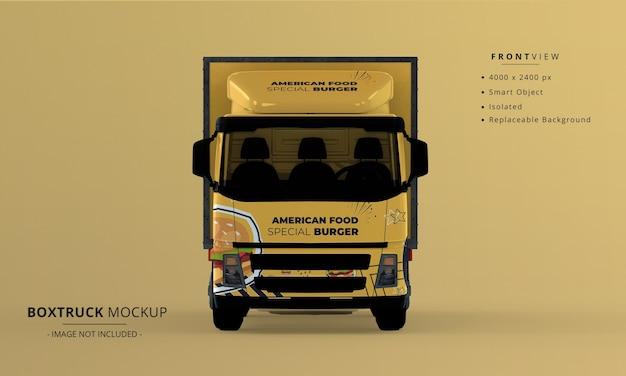 Generic big box truck car mockup front view