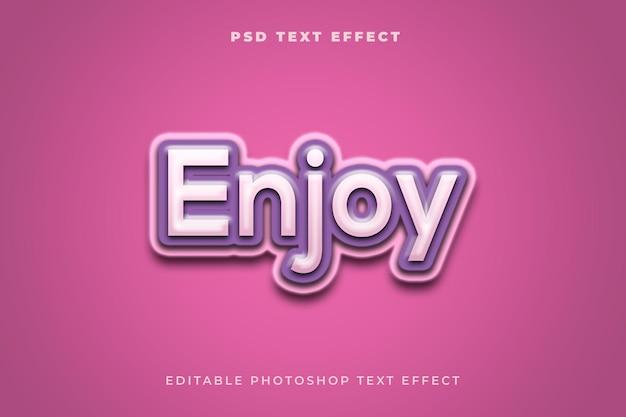 Geniet van een teksteffectsjabloon met paarse kleur