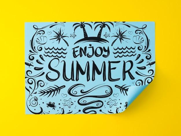 Geniet van zomergeometiepapier