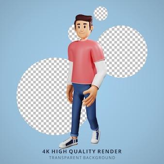 Gente joven caminando ilustración de personaje 3d
