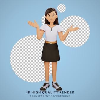 La gente joven no sabe nada ilustración de personajes 3d