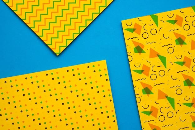 Geometrische cover mockup collectio