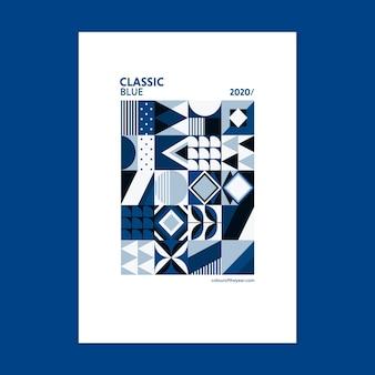 Geometrische poster kleur van het jaar 2020