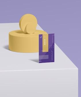 Geometrische vormen concept mock-up
