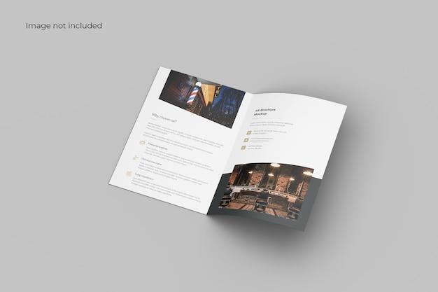 Geopend tweevoudig brochuremodel