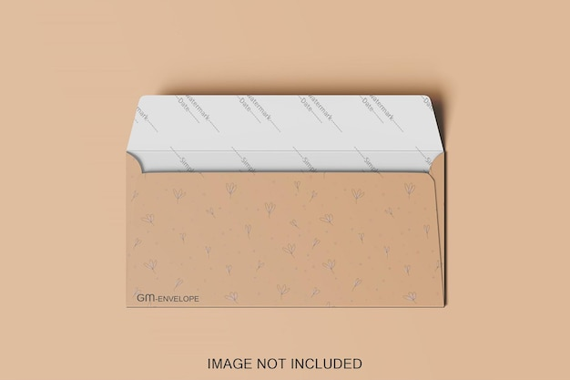 Geopende envelop mockup ontwerp geïsoleerd