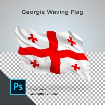 Georgia flag wave transparant psd