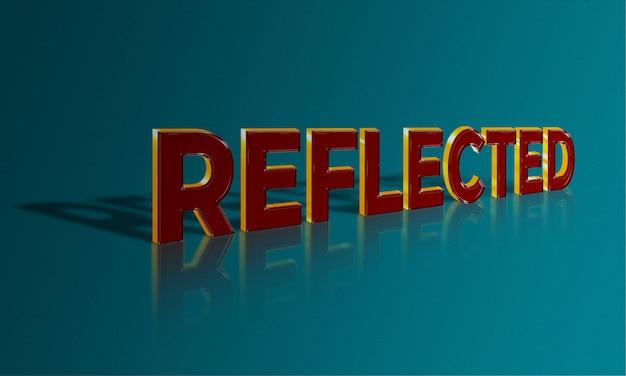 Gereflecteerd teksteffect