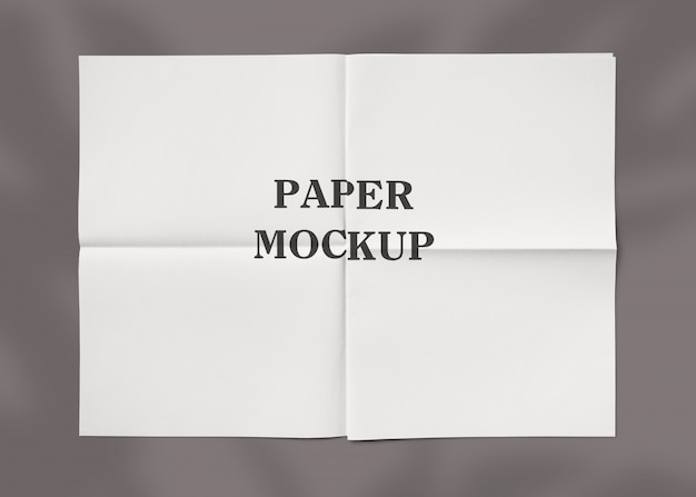 Gerimpeld papier textuur mockup