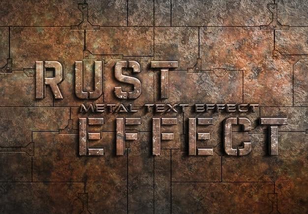Geroest metalen teksteffect