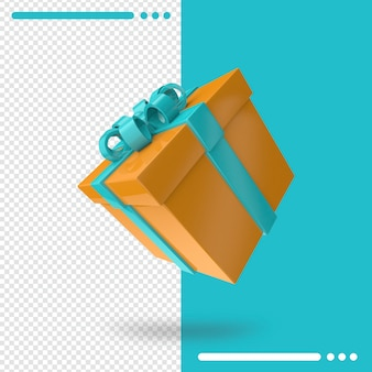 Geschenkdoos 3d-rendering
