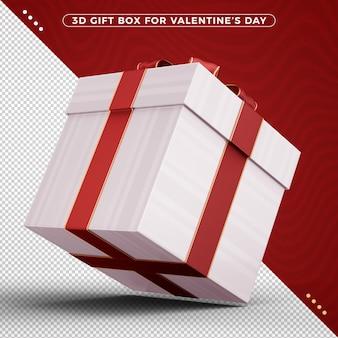 Geschenkdoos gedraaid 3d om valentijnsdag te vieren
