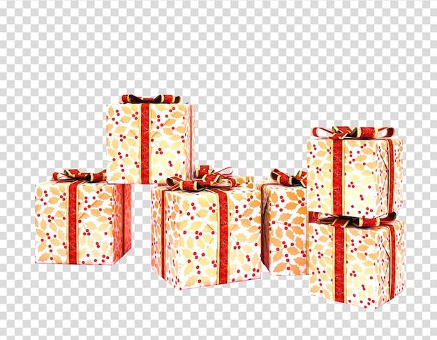 Geschenkdozen geïsoleerd