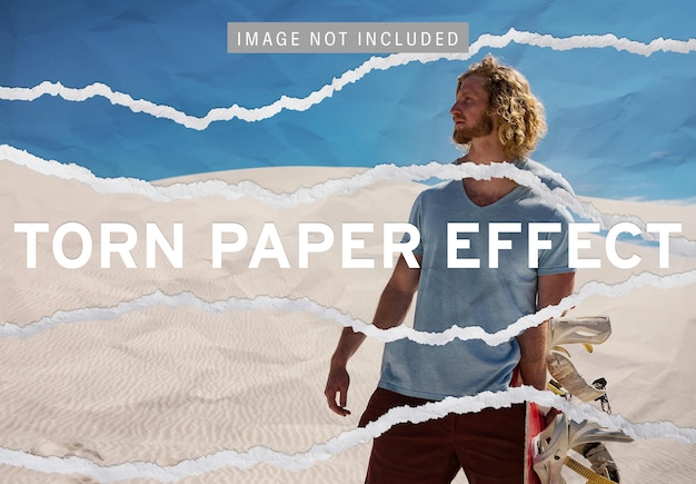 Gescheurd papier afbeeldingseffect
