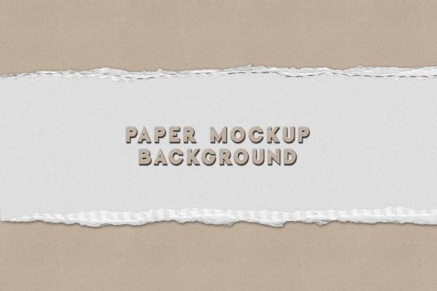 Gescheurd papier. papier mockup ontwerp achtergrond