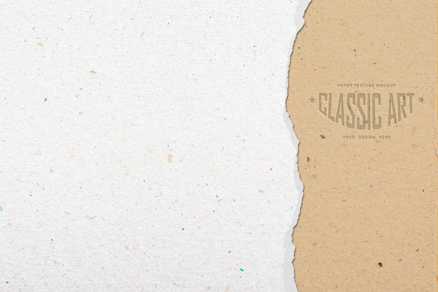 Gescheurd papier textuur mockup