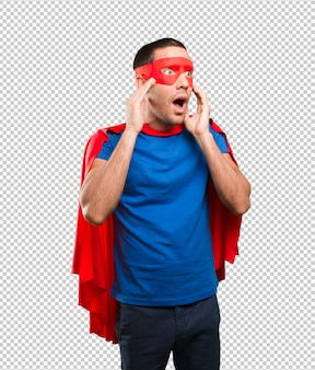 Geschokt superheld poseren