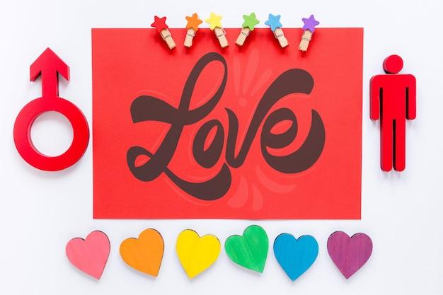 Geslachtssymbool en harten