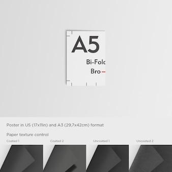Gesloten a5 brochure template