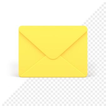 Gesloten envelop 3d-pictogram