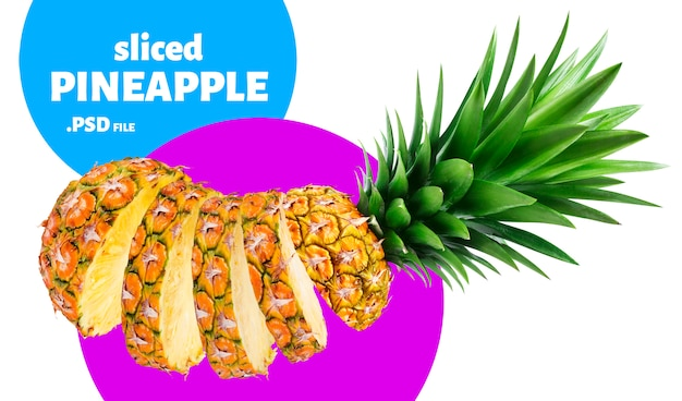 Gesneden ananasfruit