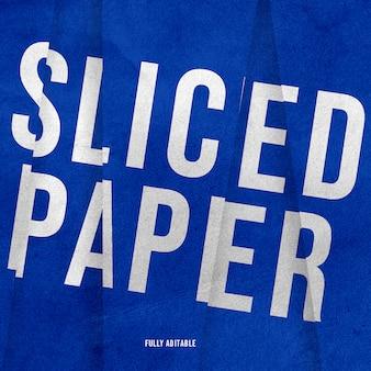 Gesneden papier lettertype tekstsjabloon