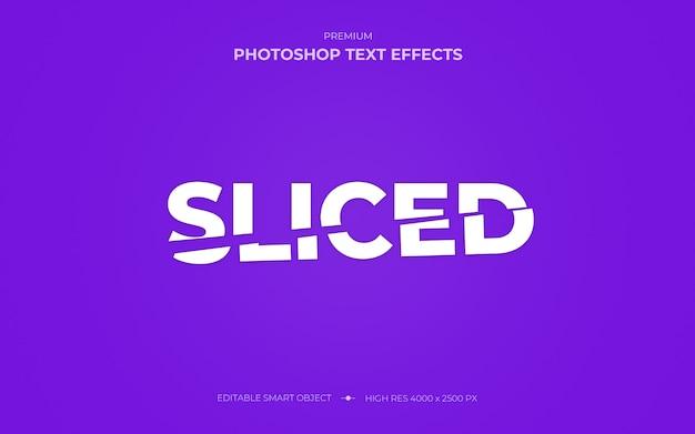 Gesneden photoshop-teksteffectmodel