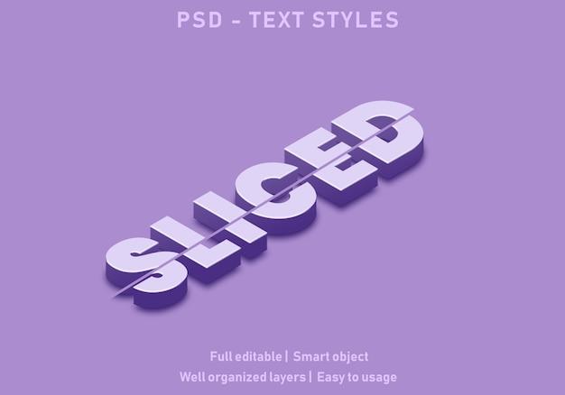 Gesneden teksteffectstijl