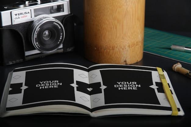 Gestileerde sketchbook mockup