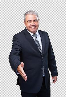 Gesto di saluto uomo d'affari