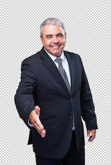 Gesto de saludo de hombre de negocios