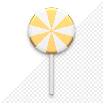 Gestreept snoep op stok 3d-pictogram